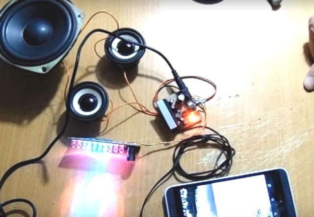 Chế đèn nháy theo nhạc dùng ic an6884 độc đáo, lạ mắt