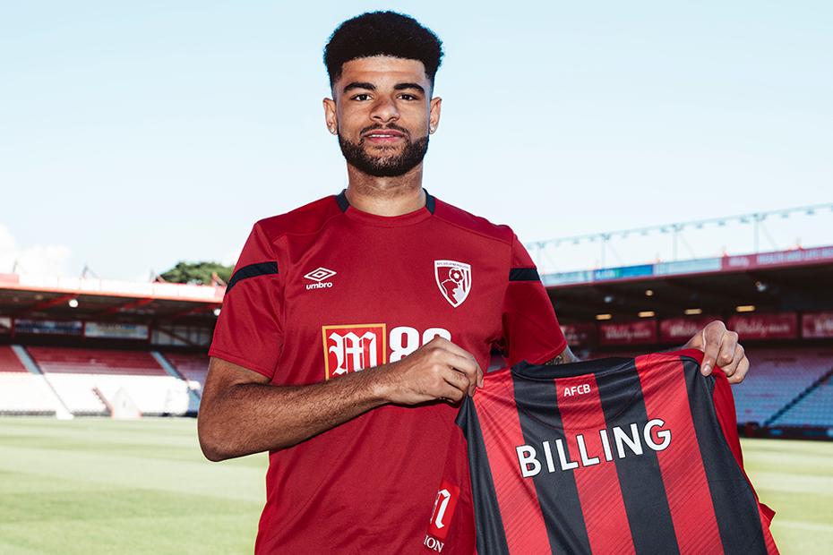 Philip Billing trong ngày ra mắt câu lạc bộ Bournemouth.